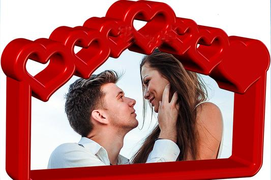Love Photo frames in 3D poster