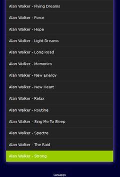 Alan Walker Mp3 Hits apk screenshot