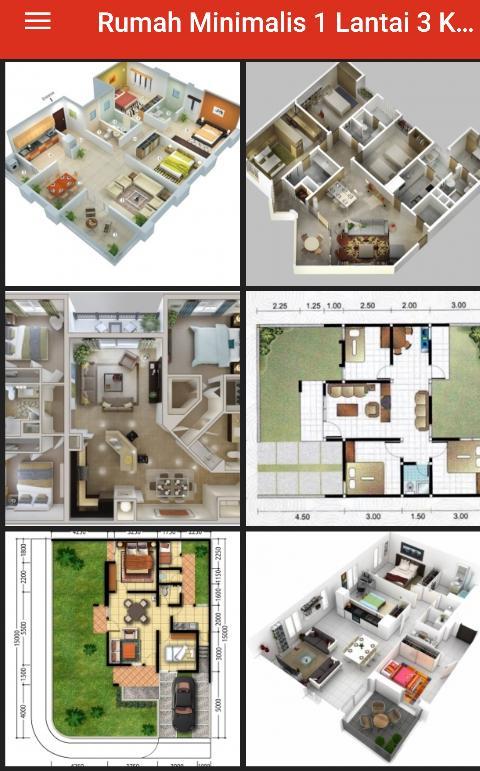 100 Rumah Minimalis 1 Lantai 3 Kamar Tidur For Android Apk Download