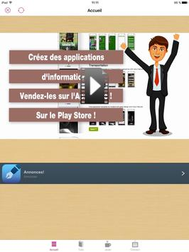 Tuto applis mobiles sans coder screenshot 6