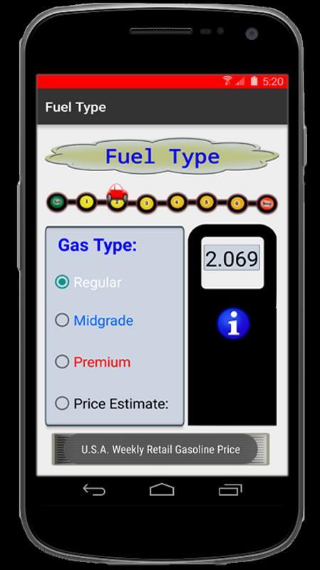 Gas Travel Calculator Screenshot 6