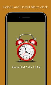 Alarm Clock Set 6 7 8 AM poster