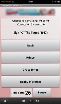 80s Albums: Who Sings It? screenshot 1