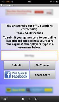 Chemistry Quiz screenshot 2
