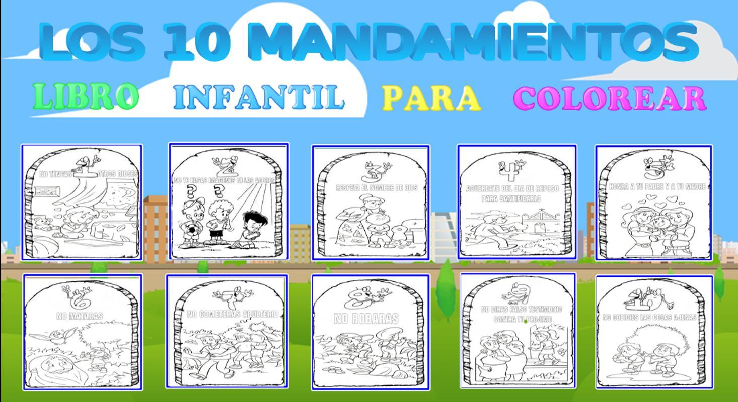 LOS 10 MANDAMIENTOS PARA COLOREAR for Android - APK Download