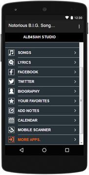 Notorious B.I.G. Songs&Lyrics screenshot 5