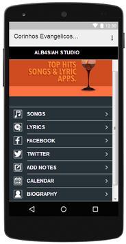 Corinhos Evangelicos Songs apk screenshot