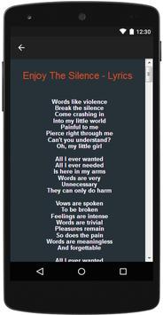 Depeche Mode Songs & Lyrics apk screenshot