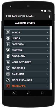 Fela Kuti Songs & Lyrics apk screenshot
