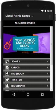 Lionel Richie Songs & Lyrics apk screenshot