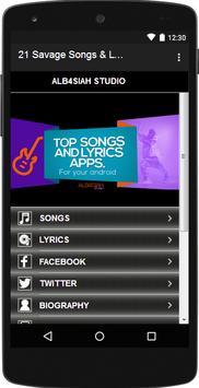 21 Savage Songs & Lyrics apk screenshot