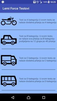 Autoskola Lemi Force testovi poster