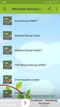 Masteran Burung Cendet JUARA screenshot 2