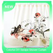 Colorful DIY Serape Shower Curtain icon