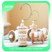 Cute Christmas Carol Ornament icon