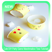 Cute DIY Party Game Marshmallow Toss Tutorials icon