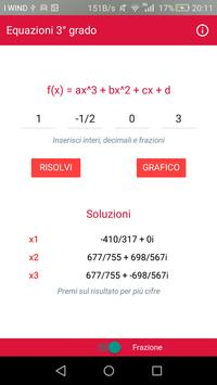 Equazioni Terzo Grado screenshot 1