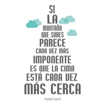 Motivational Quotes - Spanish poster