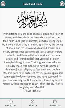 Halal food guide poster