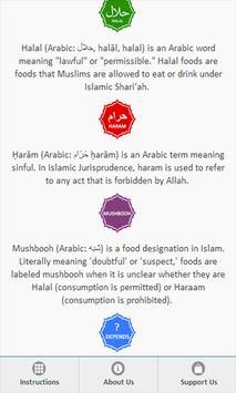 Halal food guide apk screenshot