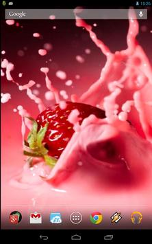 Magic Touch: Strawberries And Cream Live Wallpaper poster