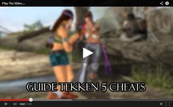 Guide Tekken 5 Cheats poster