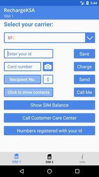 Balance Recharger (Dual SIM) apk screenshot