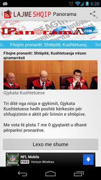 Lajme Shqip Live Albanian News apk screenshot
