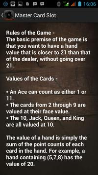 Master Card Slot poster
