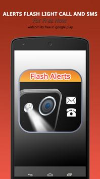 Alerts Flash Light CALL & SMS poster