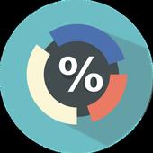 Random percentages icon