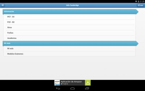 Info Cambridge apk screenshot