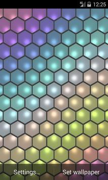 Hex Cells Live Wallpaper poster