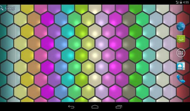 Hex Cells Live Wallpaper apk screenshot