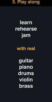 Play along - multitracks for guitar, piano, drums for
