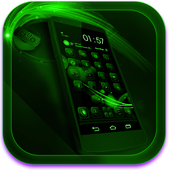 Next Launcher Theme FluOGreen icon