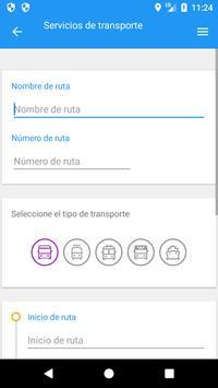 Servicios de transporte screenshot 2