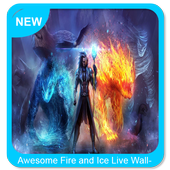 Awesome Fire and Ice Live Wallpaper icon