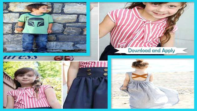 Back to School DIY Kids Clothes poster