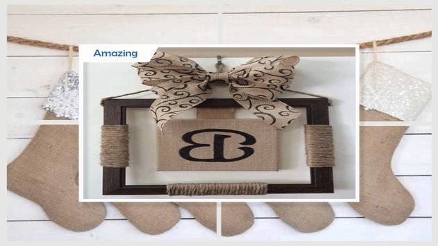 DIY Monogrammed Burlap Gift Tags screenshot 3