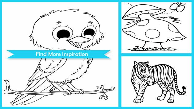 Easy Animal Coloring Pictures poster