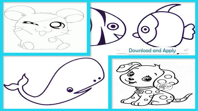 Easy Animal Coloring Pictures screenshot 1