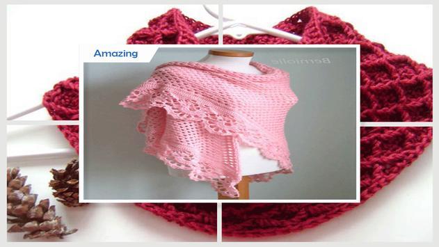 Easy DIY Crochet Valentine Shawl apk screenshot