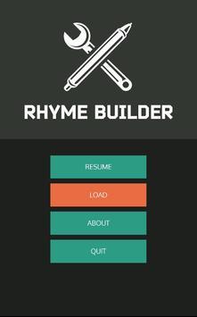 Rhyme Builder poster