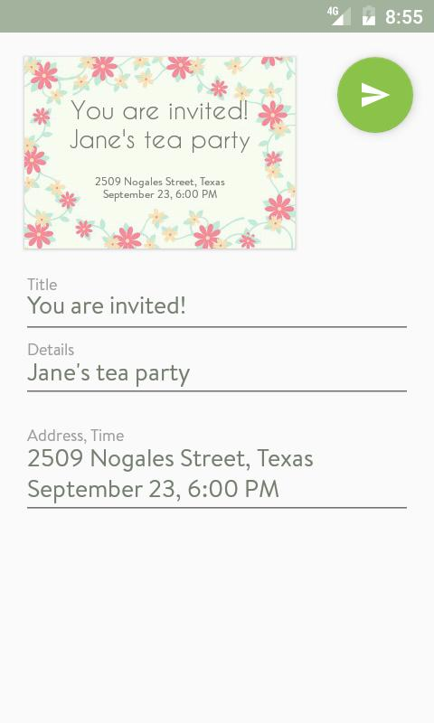 Party invitation maker apk download free social app for android party invitation maker apk screenshot stopboris Images