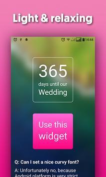 Wedding Countdown Widget - Wedtime poster