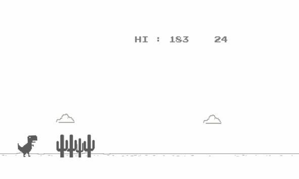 Dino chrome T-rex Runner apk screenshot
