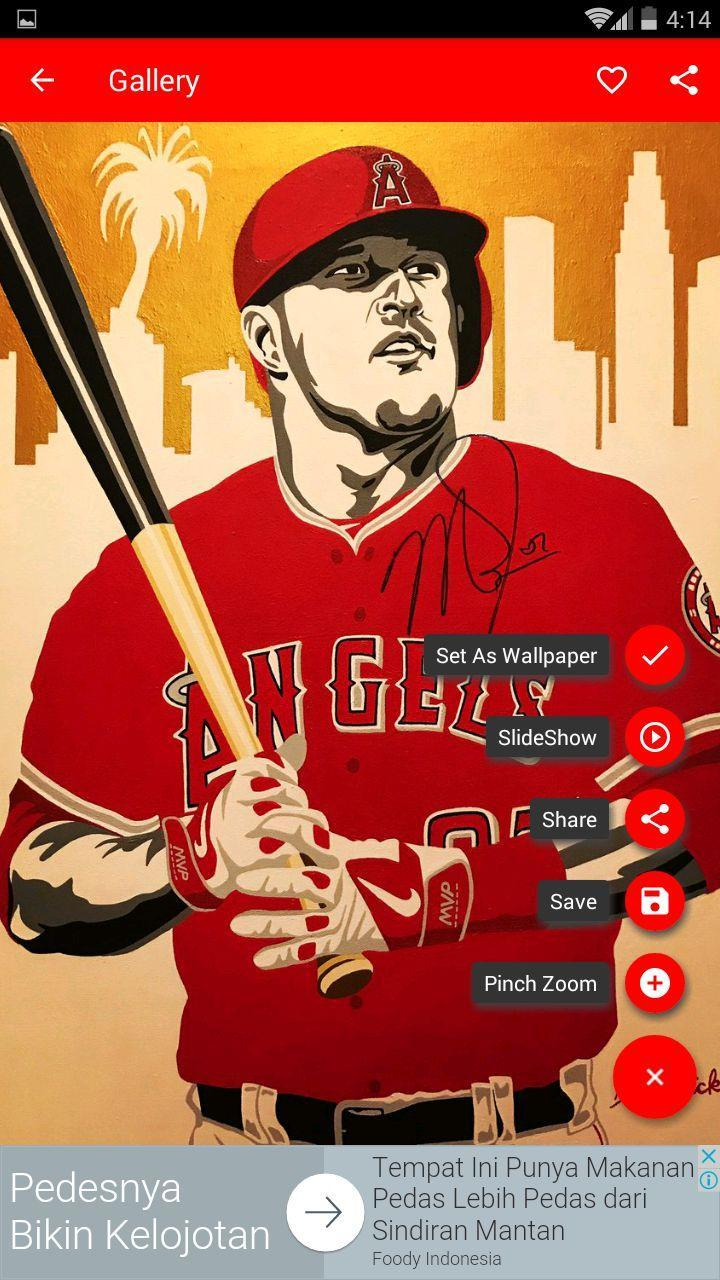Mike Trout Wallpaper Mlb For Android Apk Download