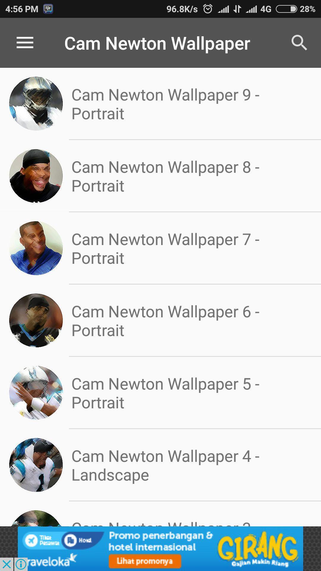 Cam Newton Wallpaper poster