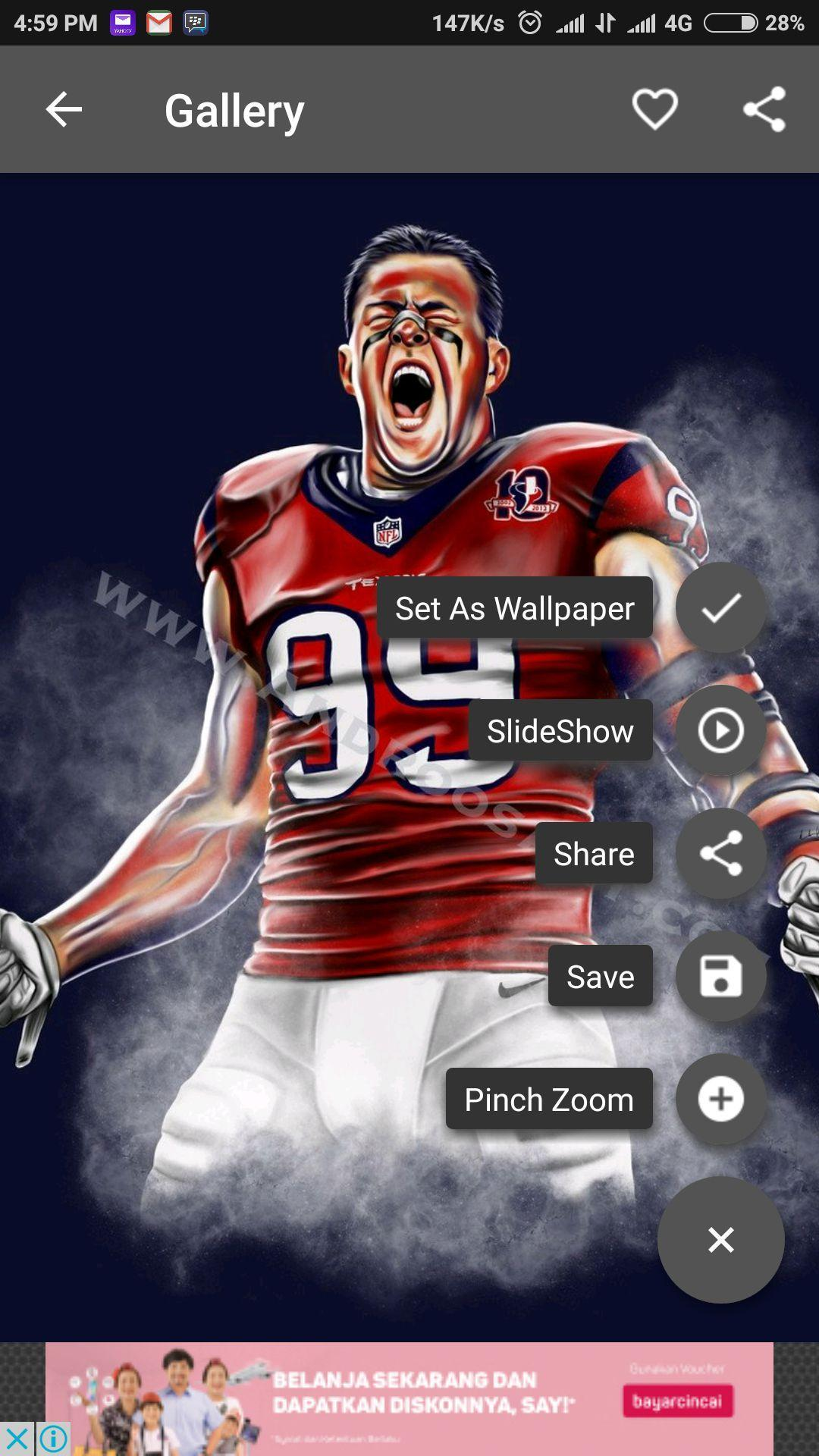 Jj Watt Wallpaper For Android Apk Download